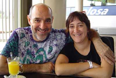 Paco Paricio y Eva Paricio, titiriteros